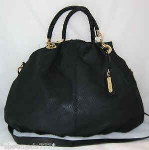 Cynthia Rowley Leather Bag Purse Satchel Sac Snake