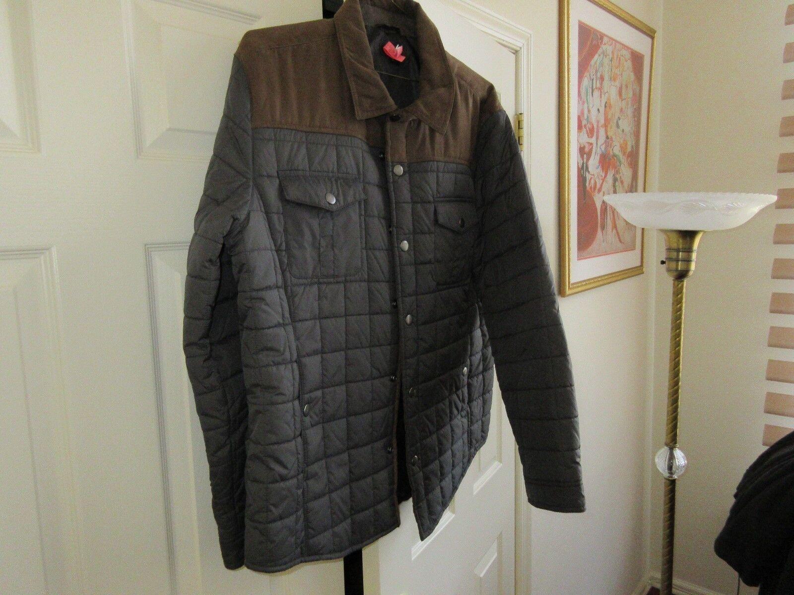 Tasso Elba , Mens Puffer Puffy Jacket , Black/Brown , S