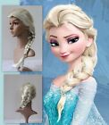 Movies Frozen Snow Queen Elsa Blonde Braid Cosplay Party Costume Wig