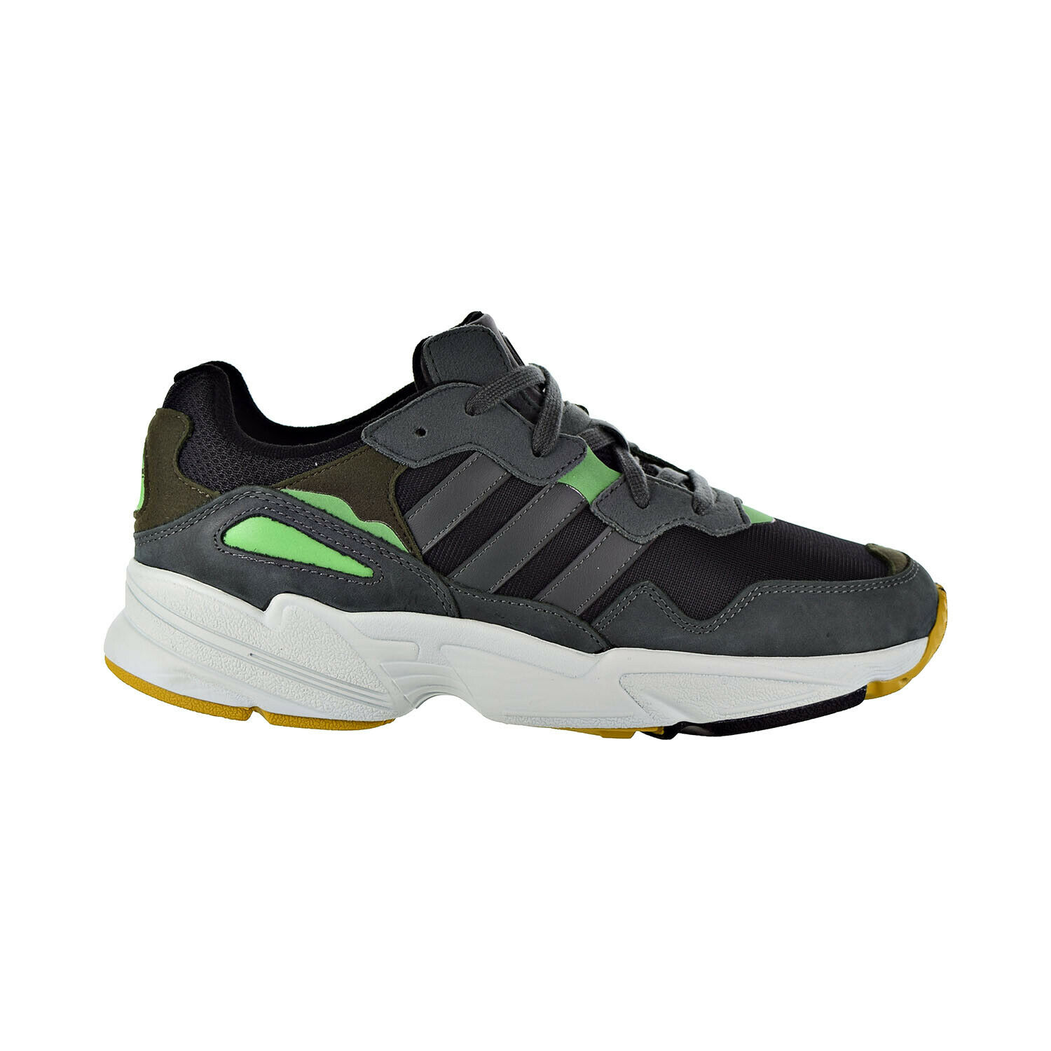 Adidas Yung-96 Men's shoes Core Black Legend Ivy Raw Ochre F35018