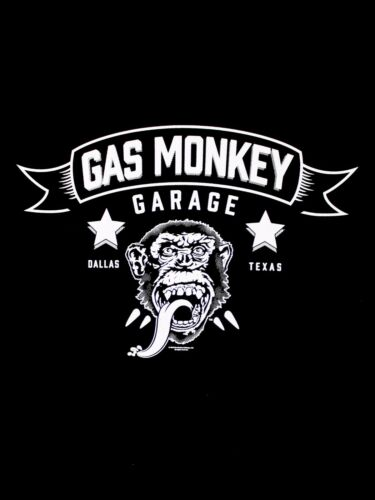 Gas Monkey Garage Blood Sweat and Beers Fast Loud Licensed Black Mens T-shirt