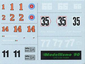 Capable Modellismo 90 1/43 Dec.01 Additional Decal Sheet Ferrari/mclaren/brabham 1976/78 Valeur Formidable