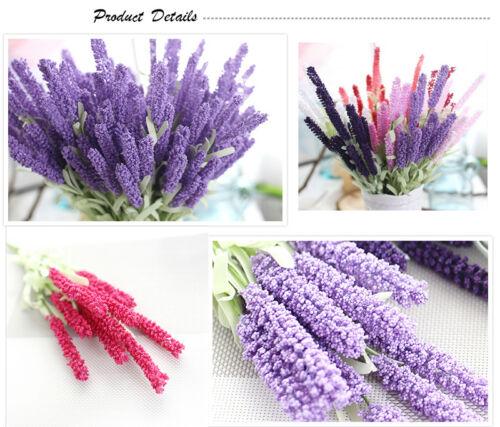 12 Heads Lavender Bouquet Wedding Silk Flowers High Simulation Home Decoration