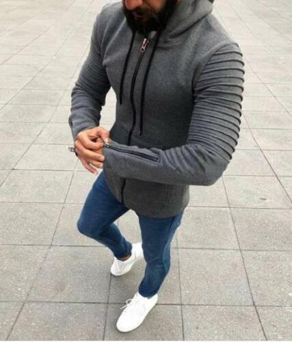 Men/'s Premium Full Zip Up Hoodie Classic Zipper Hooded Sweatshirt Cotton Soft
