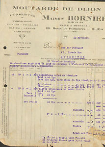 21 Dijon Facture Maison Bornier Moutarde Conserves 1929 Vmbqqdck-07220744-656556815
