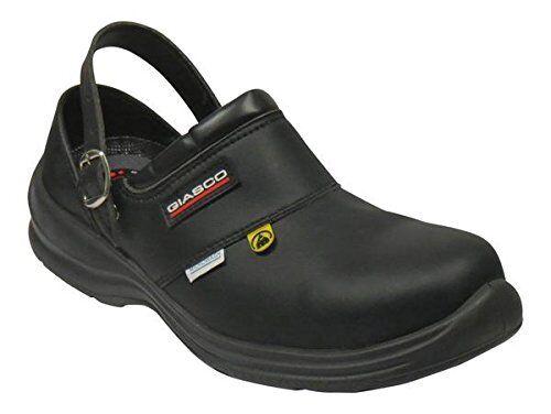 Giasco Libre Semi Espalda Espalda Espalda Abierta Cuero Trabajo Zapato Antideslizante & Suela resistente al aceite  respuestas rápidas