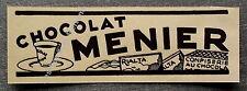 Publicité CHOCOLAT MENIER  1933 clipping