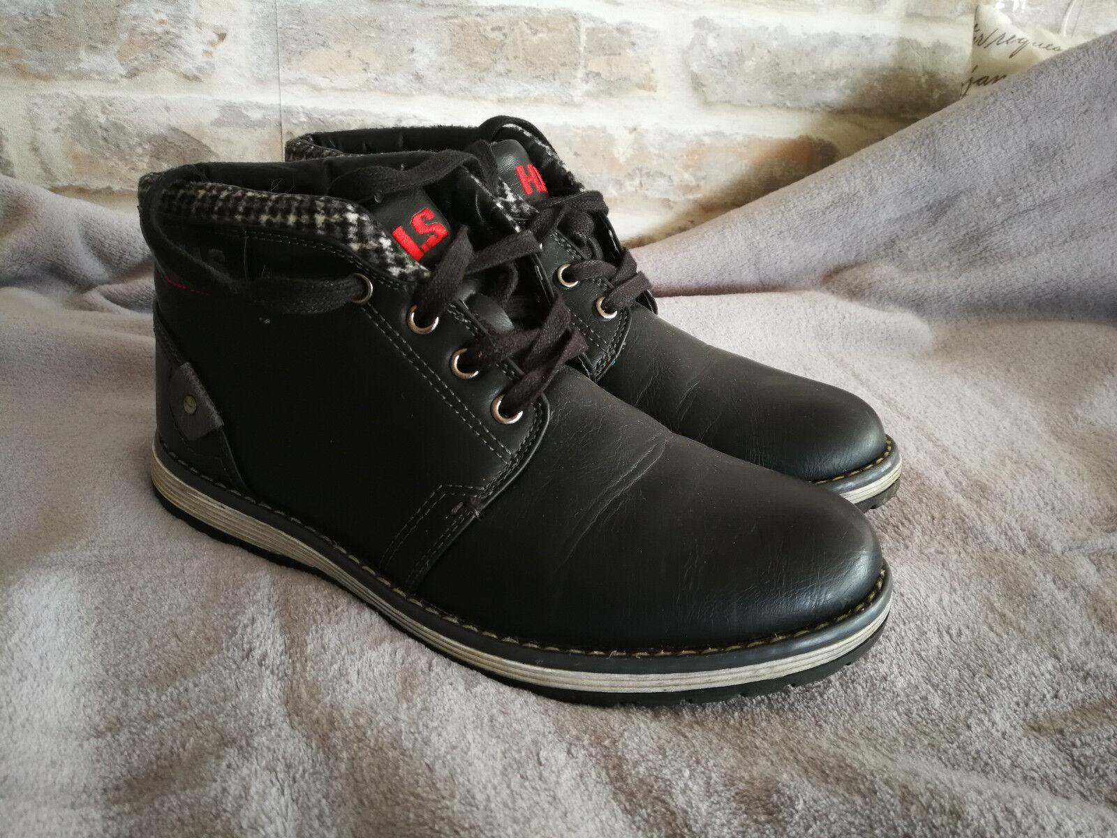 H.I.S Schuhe schwarz, leicht gefüttert, schwarz, Schuhe Herrenschuhe 87eff6