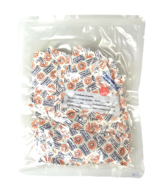 500cc Oxygen Absorbers Scavengers Great For 1 or 2 Gallon Food Storage NEW!