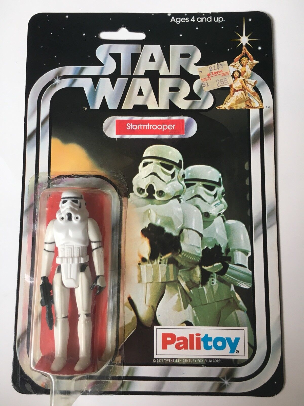 PALITOY VERY VERY VERY RARE    original Card STAR WARS STORMTROOPER Storm Trooper fa11ec