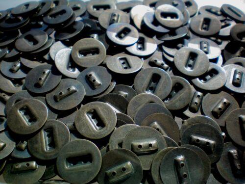 18mm 28L Metal Latón 2 Agujeros Coser Industrial Rústico Artesanía Botón Botones de MB161B