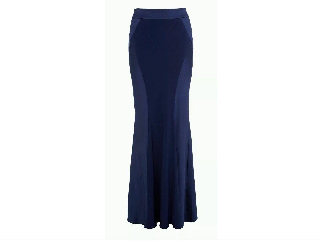 BNWTCoast Size 8 Ezlie bluee Navy Maxi Full Length Prom Weddings Skirt