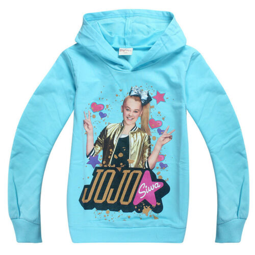 Belpashe Jojo Siwa Printed Kids Girls Hooded T Shirt Casual Hoodies Sweatshirt