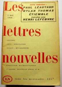 LEAUTAUD-ETIEMBLE-NADEAU-LETTRES-NOUVELLES-1959-N-10
