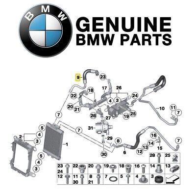 For BMW F30 E92 335i xDrive 13-15 Oil Cooler Line OEM Genuine ...