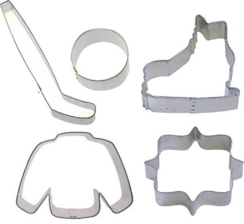 5 Piece Ice Hockey Cookie Cutter Set