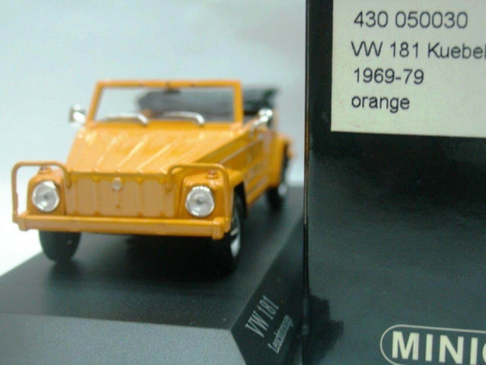 Wow extremadonnate raro VW 181 Kubelwagen Cabrio arancia 1969 1 43 Minichamps