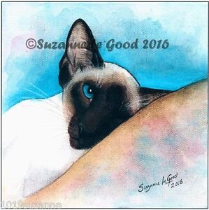 LARGE-LIMITED-EDITION-SIAMESE-CAT-PRINT-FROM-ORIGINAL-PAINTING-SUZANNE-LE-GOOD