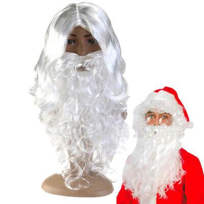 Weihnachtsmann Kostüm Set Nikolaus Santa Claus Anzug Verkleidung Bart Mantel
