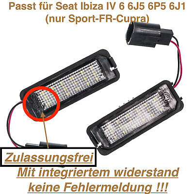 2x TOP LED Modul 18 SMD Fußraumbeleuchtung Seat Ibiza V 6J5 6P5 ROT