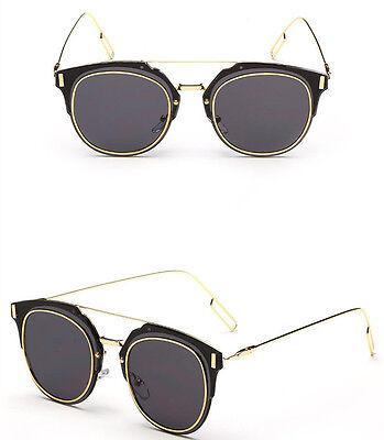 Unisex Vintage Retro Men/Womens Glasses Metal Resin Mirror Lens Sunglasses UV400