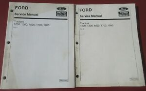 FORD NEW HOLLAND 1200 1300 1500 1700 1900 TRACTOR SERVICE MANUAL VOLUME 1 & 2