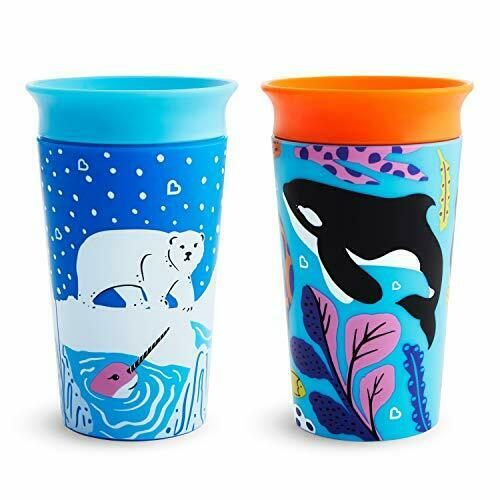 NEW Miracle 360 WildLove Toddler Sippy Cup Polar Bear Orca 9 Oz 266 Ml 2 Pack G