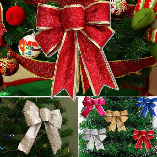 Bows Christmas Tree Decorations Xmas Bowknot Party Garden Festival Ornaments Vi