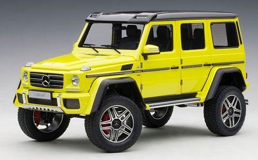 76319 bilkonst 1 18 Mercedes Benz G500 4X4 Gul