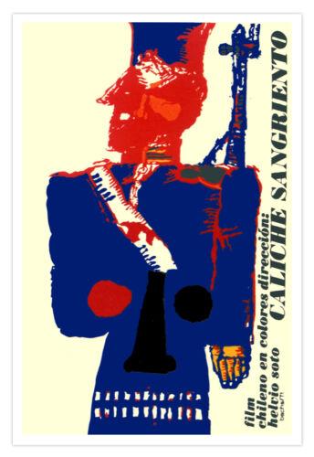 """Decor Graphic Design movie Poster/""""CALICHE Sangriento/""""Chile Art Political film"""