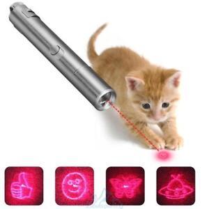 Laserpointer-LED-Licht-Katze-Spielzeug-Training-USB-Wiederaufladbar-Multi-Muster