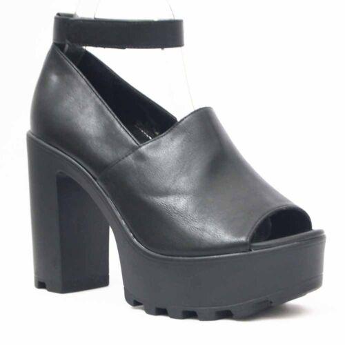 De Sandals De Decolte Chaussures Avec Pour Talon Plateau 4 La Noir Femmes Cour 11 Cm 5jL3q4AR