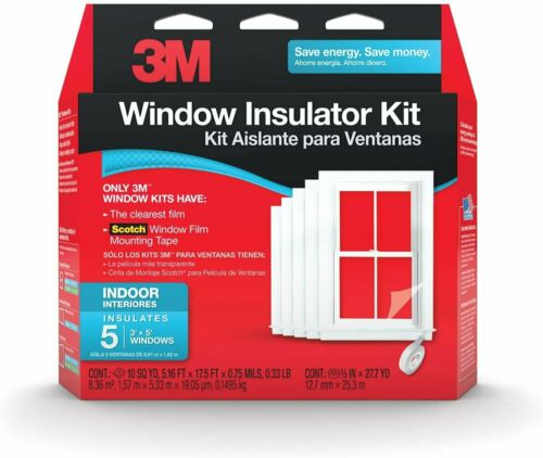 3M Indoor Window Insulator Kit Insulates 5-3/'x5/' Windows
