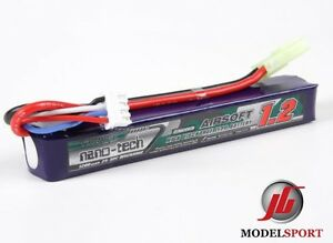 Nano-Tech-1200mah-3-Cell-Airsoft-Lipo-Stick-Battery-Pack-11-1V-25-50-C