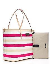 KATE SPADE Bondi Road Harmony Baby Diaper Bag Striped Pink/Cream wkru2575 NWT