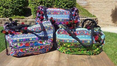 Guatemala ethnic belt or cincher mul-ticolor with fun  poms poms