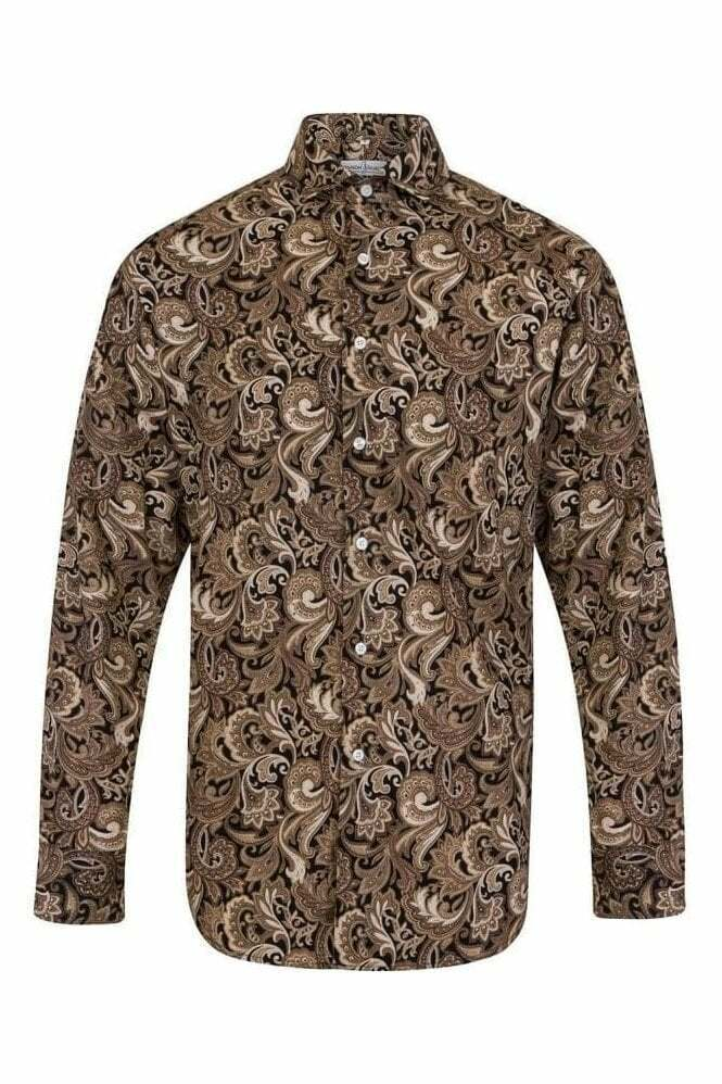 Brown Black Paisley