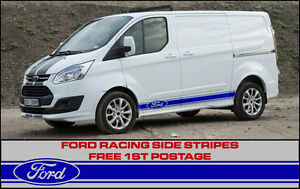 ford transit custom side stripes sport racing connect racing ebay. Black Bedroom Furniture Sets. Home Design Ideas