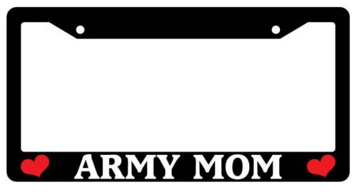 Black License Plate Frame ARMY MOM Auto Accessory Novelty 172