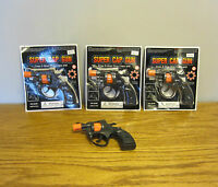 3 Super Cap Guns Toy Pistol Handgun Fires 8 Shot Ring Caps Kids Revolver