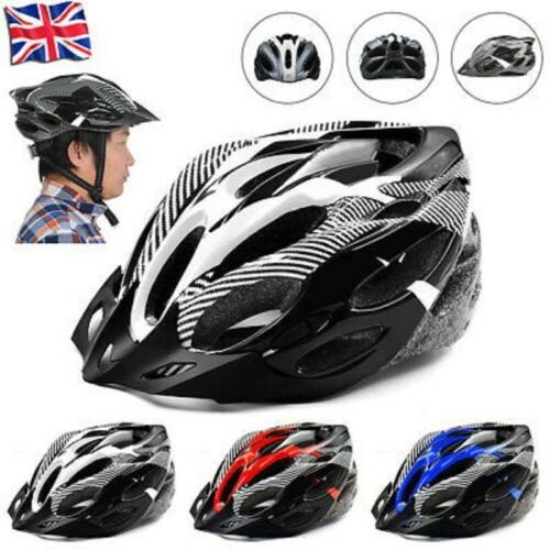 Mountain Bike Adjustable Mens Womens Adults Road Helmet Sports Bicycle Hat Cap