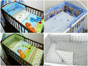 5 Piece Cot Bedding Set Straight Per