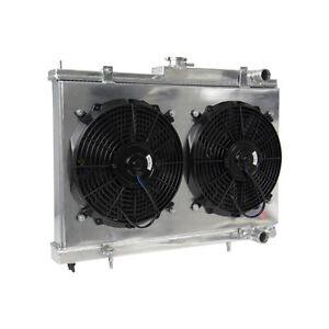 2Row-Radiator-Shroud-Fans-FOR-NISSAN-SKYLINE-RB25DET-R33-R34-GTS-T-MT-PRO
