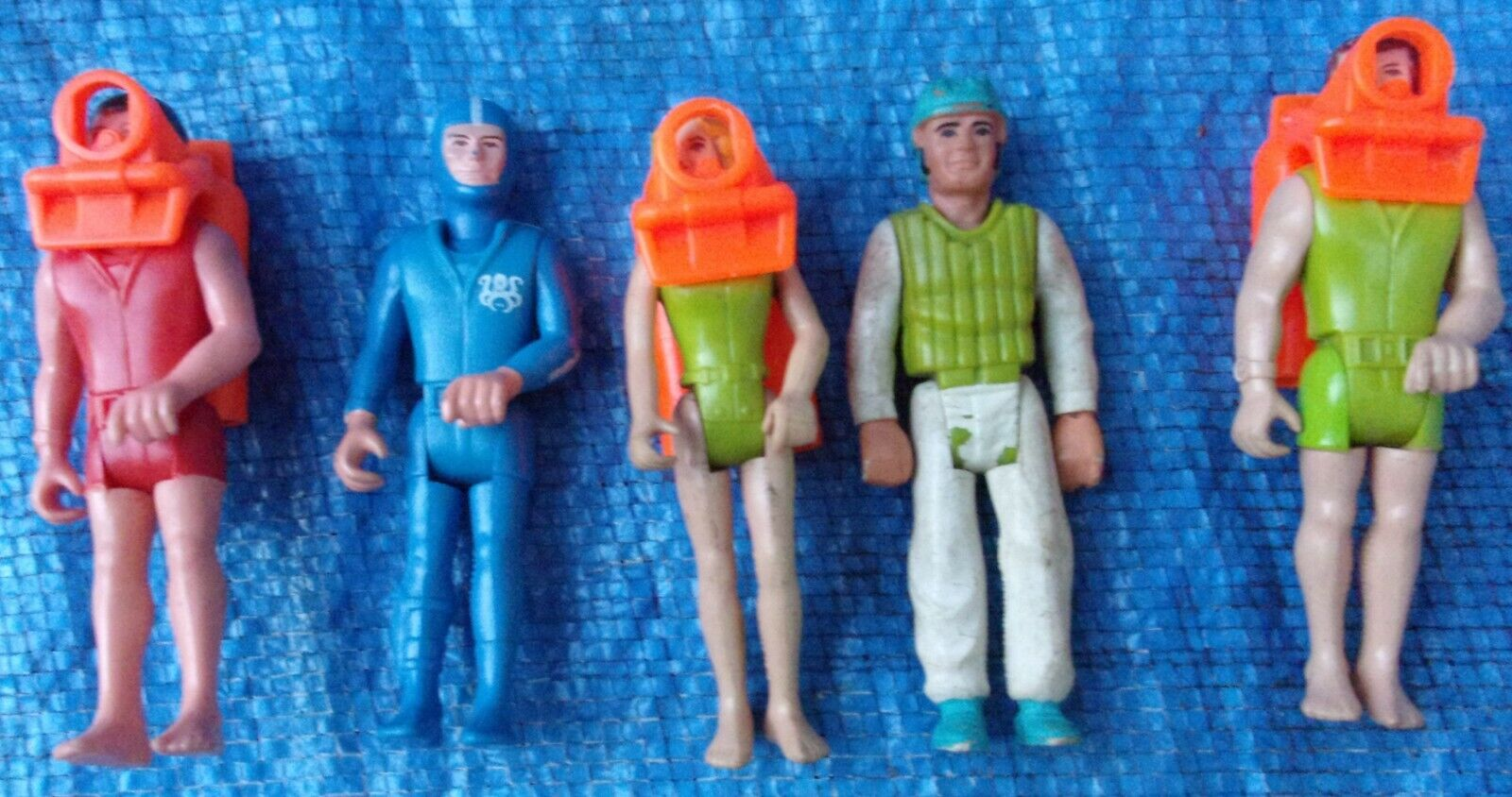 Fisher Price Adventure People Action Figure Lot Scuba Divers Kayaker Swimmer