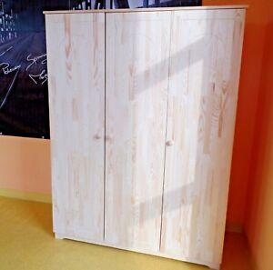 kinder jugend baby schrank m bel kleiderschrank 3 t riger massivholz 18mm ebay. Black Bedroom Furniture Sets. Home Design Ideas