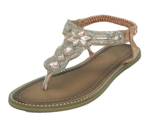WOMEN/'S RHINESTONE UPPER SANDALS COLORS ROSE OR WHITE SIZES 6 7 8 9 10 11