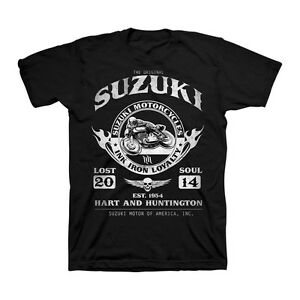 Suzuki Racing Ride Together Tee T-Shirt Black Hart and Huntington Motorcycle