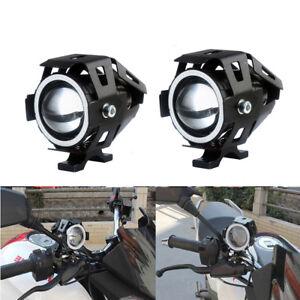 2X-Motorrad-LKW-U5-125W-3000LM-LED-Scheinwerfer-Zusatzscheinwerfer-Fog-Lampe