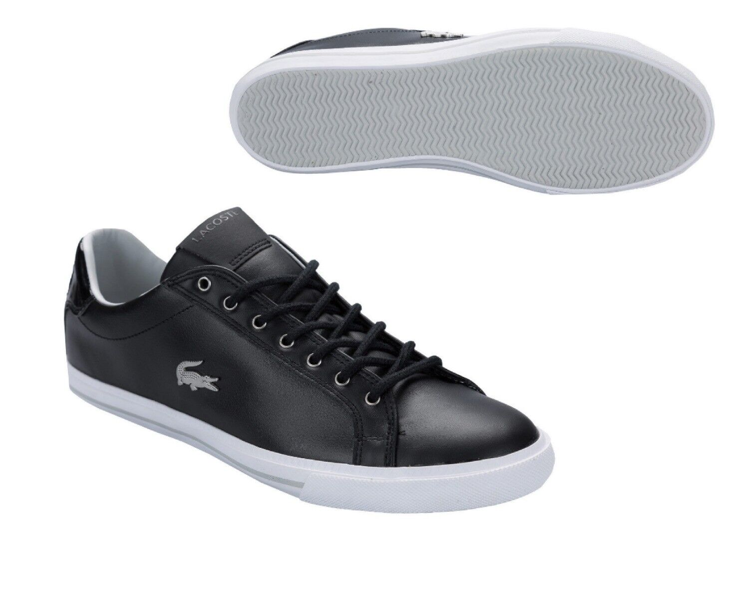 Lacoste Grad Vulc MTE SPM Black Grey Size 11 Mens Trainer Shoe RRP £80/-