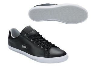 2369b44f4c537 Lacoste Grad Vulc MTE SPM Black Grey Size 11 Mens Trainer Shoe RRP ...